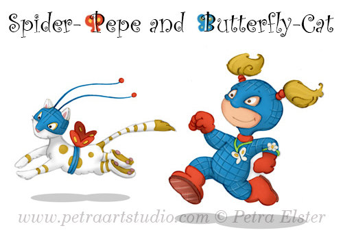 Pepe and Butterfly - Copyright © 2008 Petra Elster - All Rights Reserved